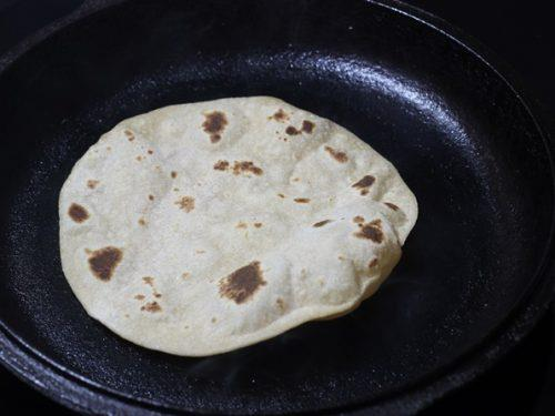 puffed roti to make kathi roll
