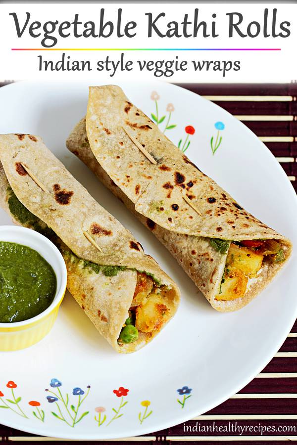 Kathi roll recipe | How to make veg kati roll