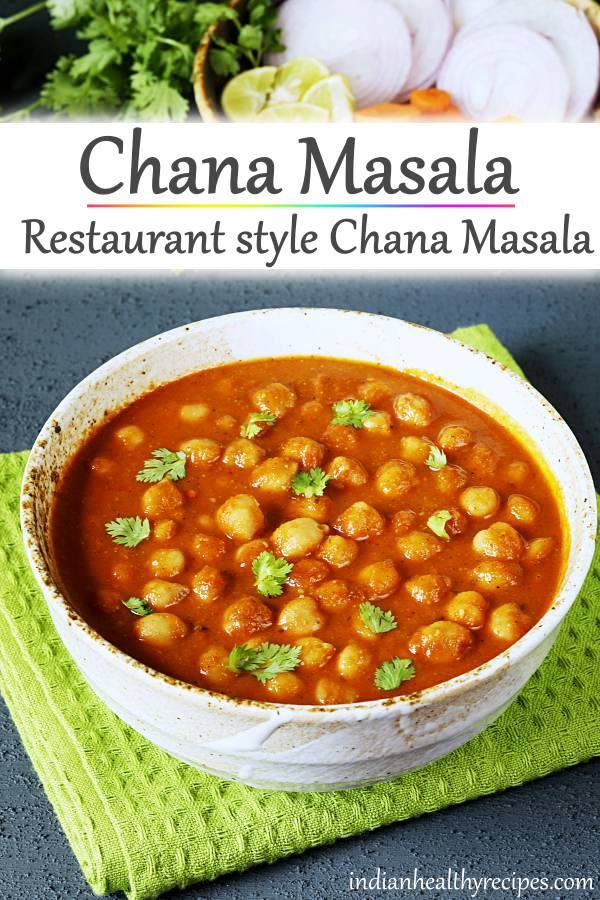 Chana masala recipe in restaurant style. Tastes delicious and flavorful. Chana masala made in onion tomato gravy with spice powder. #chanamasala #chana #chole #cholerecipe #chanamasalarecipe