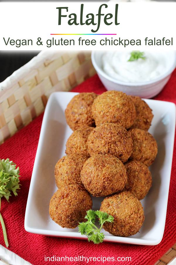 Falafel recipe from scratch. Make the best falafel at home with this simple step by step photo guide. #falafel #snack #falafelrecipe #vegetarian