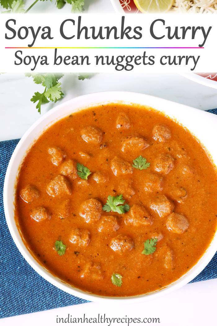 soya chunks curry meal maker curry recipe