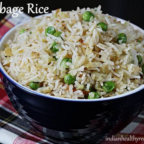 Cabbage rice (Cabbage fried rice) - Swasthi's Recipes
