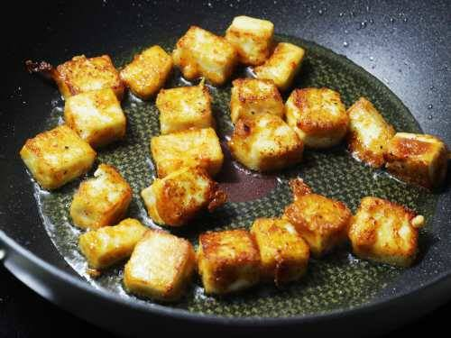 golden fried paneer