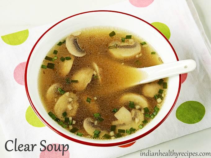clear soup recipe