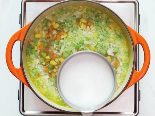 adding starch to vegetable soup