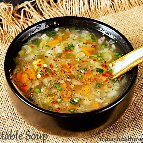 Vegetable Soup Recipe How To Make Vegetable Soup Swasthi S Recipes