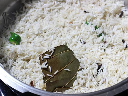 basmati rice with spices and ghee