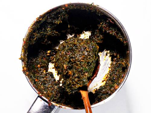 methi chutney in blender