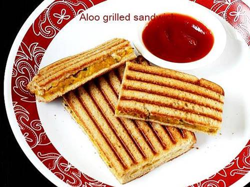aloo grilled sandwich