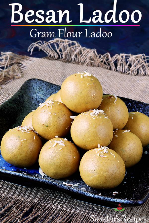 Besan ladoo are delicious sweet balls made with gram flour, sugar, ghee & cardamom powder. This is a detailed step by step post to make mouth melting aromatic #besanladoo #ladoo