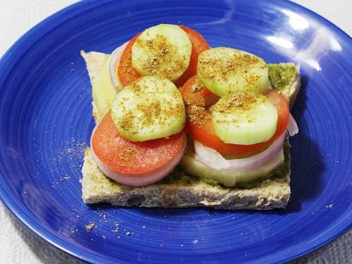 making veg bombay sandwich