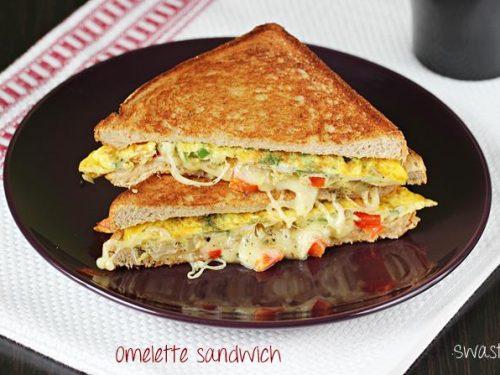 bread omelette sandwich