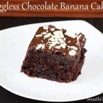 eggless chocolate banana cake