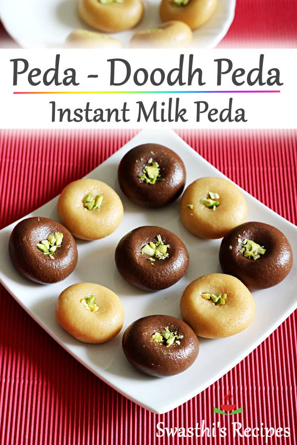 Peda or doodh peda is an Indian sweet made with milk solids, sugar and cardamom powder. These are mostly made during festive occasions. #peda #doodhpeda #pedarecipe