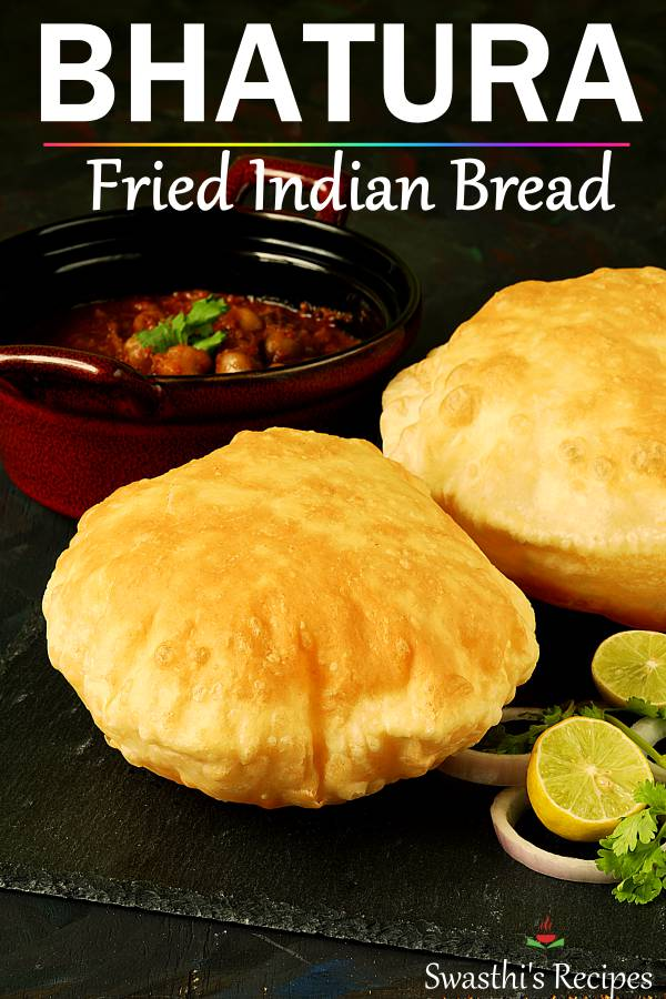 Bhatura is a deep fried puffed bread made with flour, salt and a leavening agent. This recipe will teach you to make the best bhaturas at home. #bhatura #bhaturarecipe