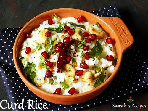 curd rice for Indian dinner recipes