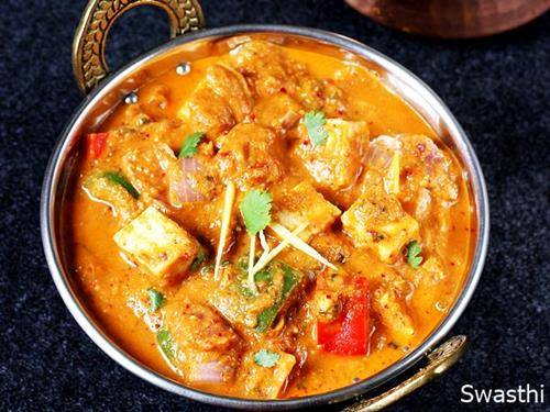 kadai paneer for indian dinner recipes