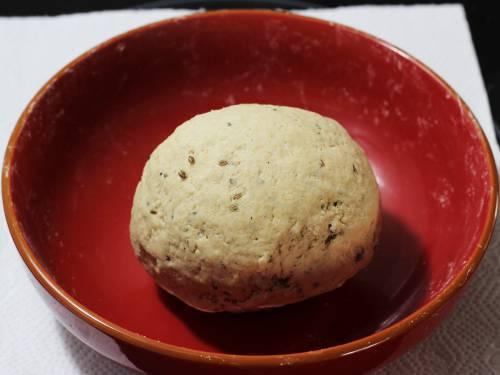 soft namak para dough in a bowl