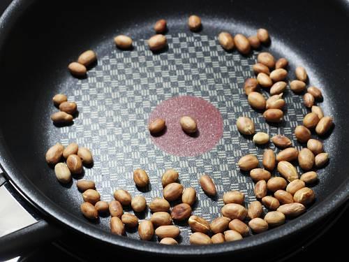 roasting peanuts