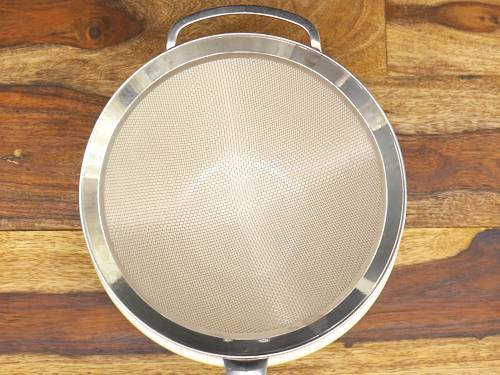 place a strainer over a bowl