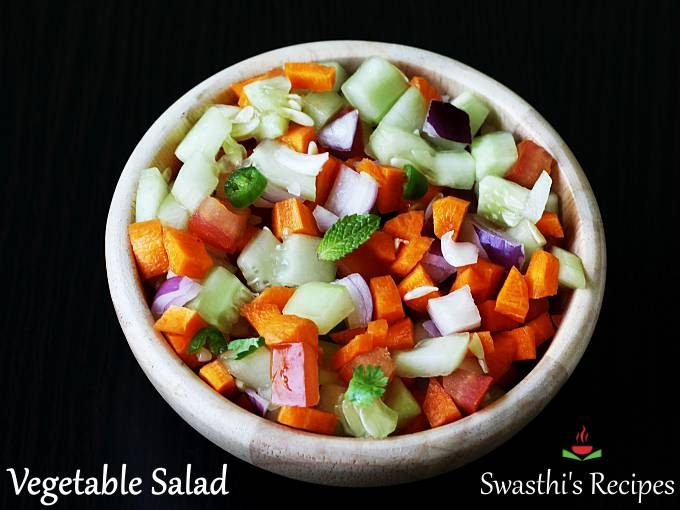 Indian vegetable salad