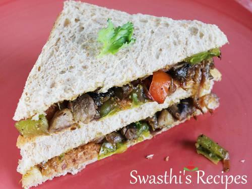 bell pepper mushroom sandwich