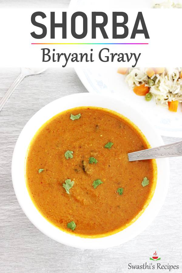 Shorba recipe (Biryani gravy recipe)