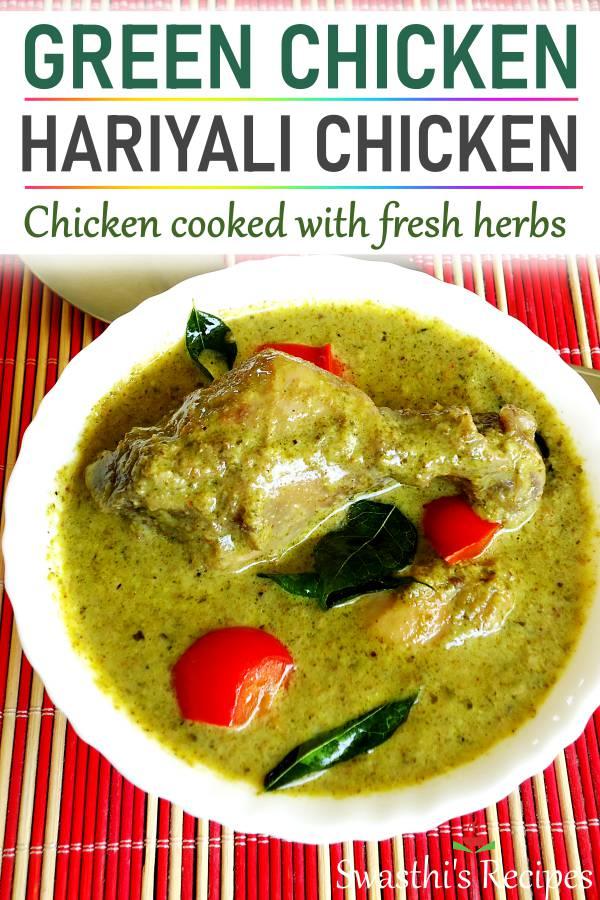 hariyali chicken green chicken