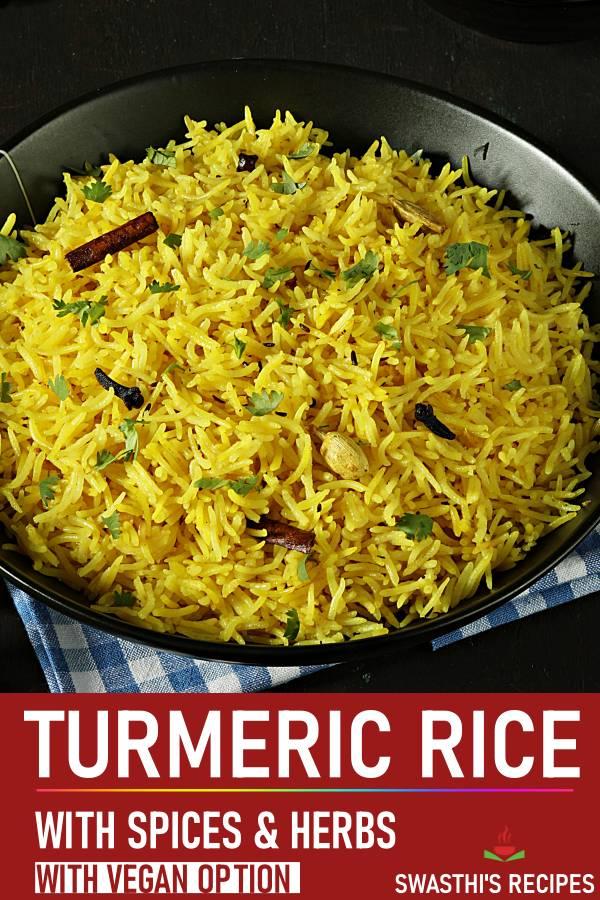Turmeric rice (Stovetop & Instant pot)