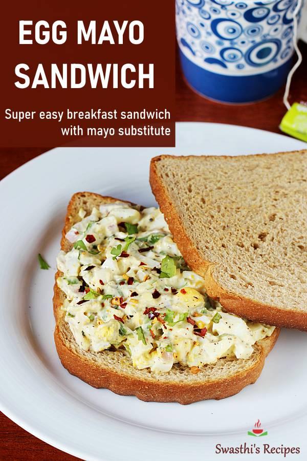 Egg Mayo Sandwich Recipe Swasthi S Recipes