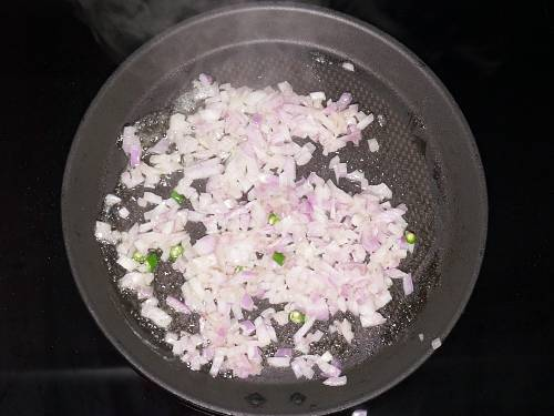 sauteing onions in butter for masala pav