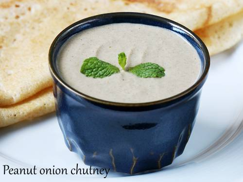 peanut chutney with onions