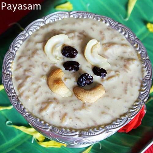 Rice payasam with jaggery