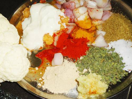 adding ingredients for marinade to a bowl