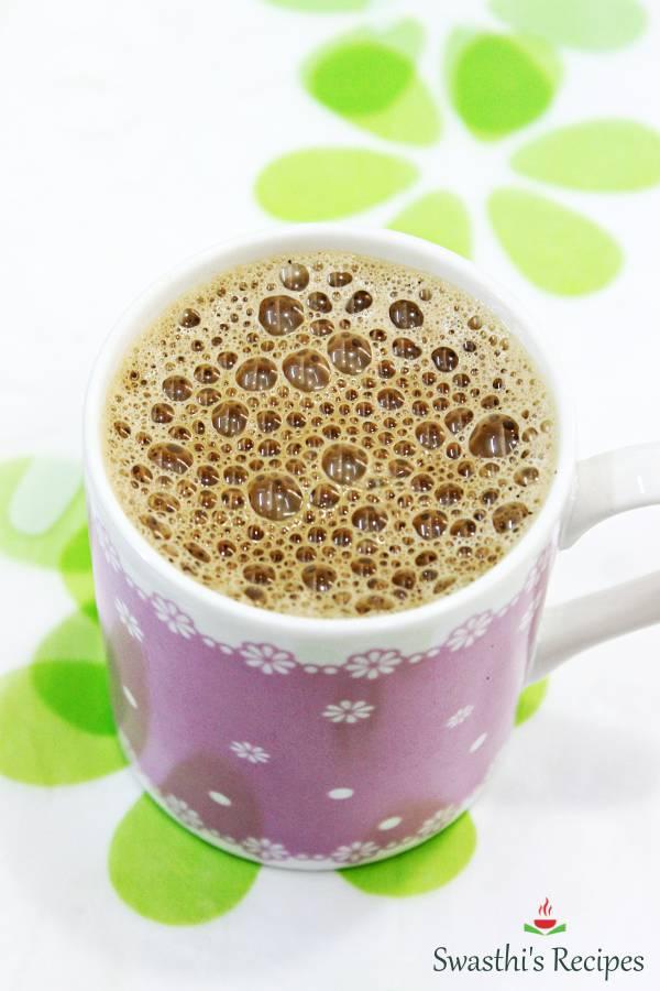 kadak masala chai tea in a pink cup