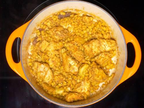 cooling cooked ingredients to make shami kabab