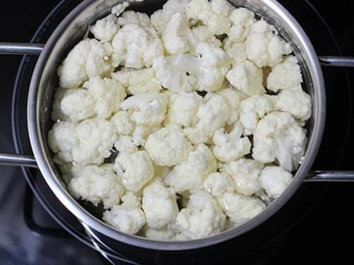 blanching cauliflower