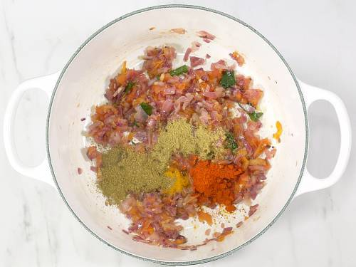 addition of spice powders