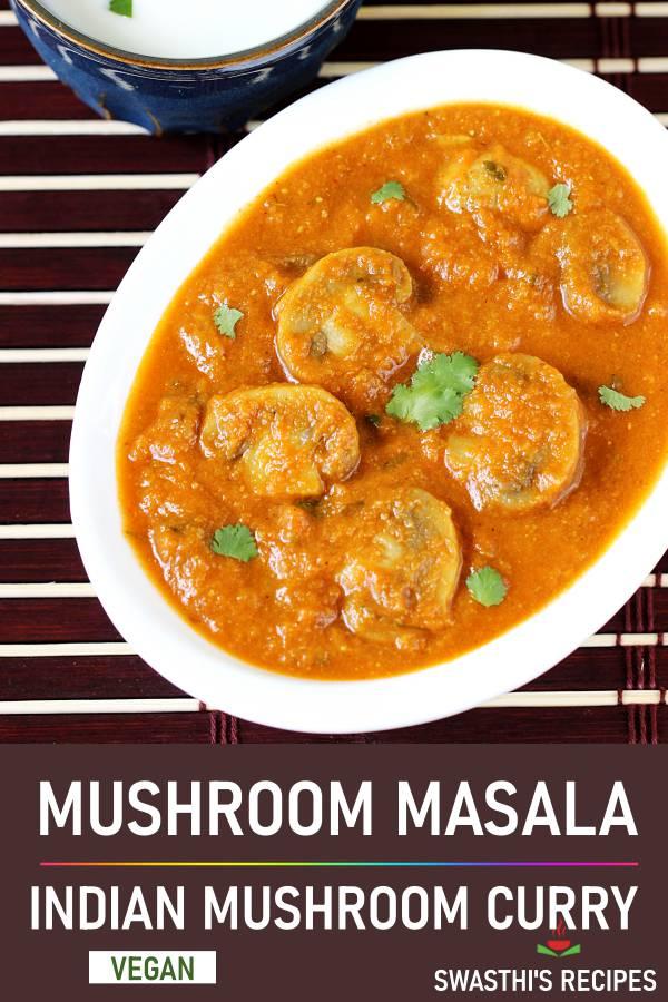 Mushroom masala curry | Mushroom gravy