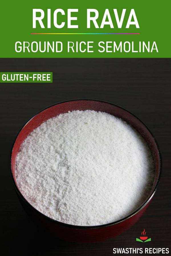 rice rava or ground rice semolina