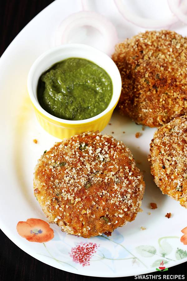 soya cutlet - patties with soya granules