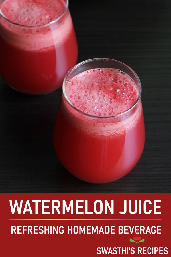 Watermelon juice recipe | How to make watermelon juice