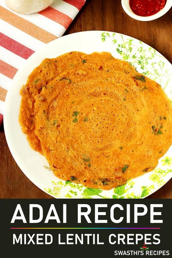 Adai recipe (Adai dosa)