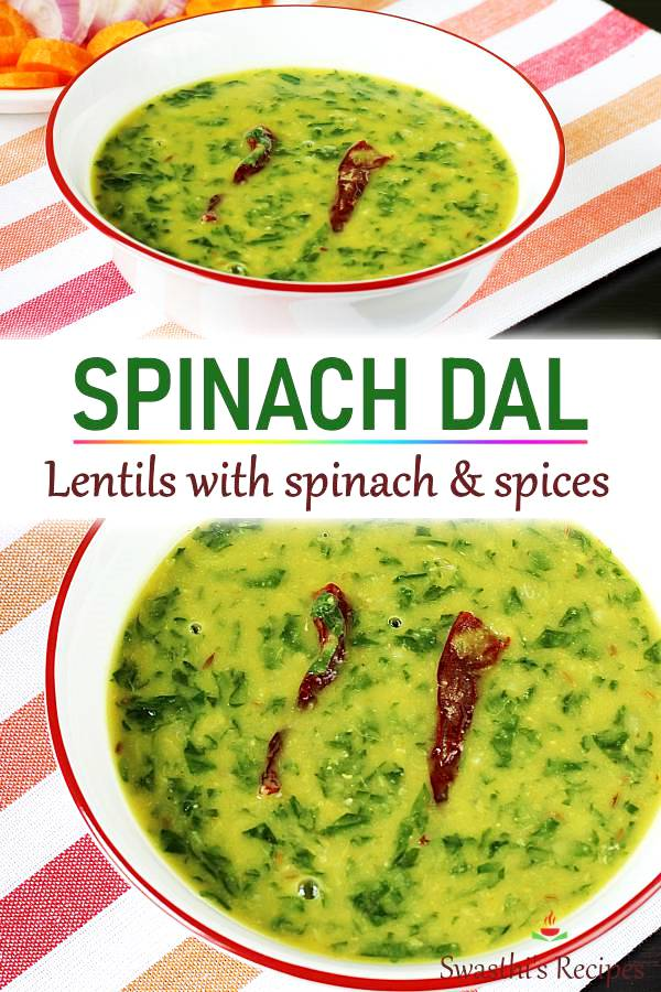 Dal palak recipe | Spinach dal (stovetop & Instant pot)