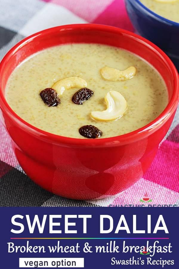 Dalia recipe | Dalia khichdi | Sweet daliya