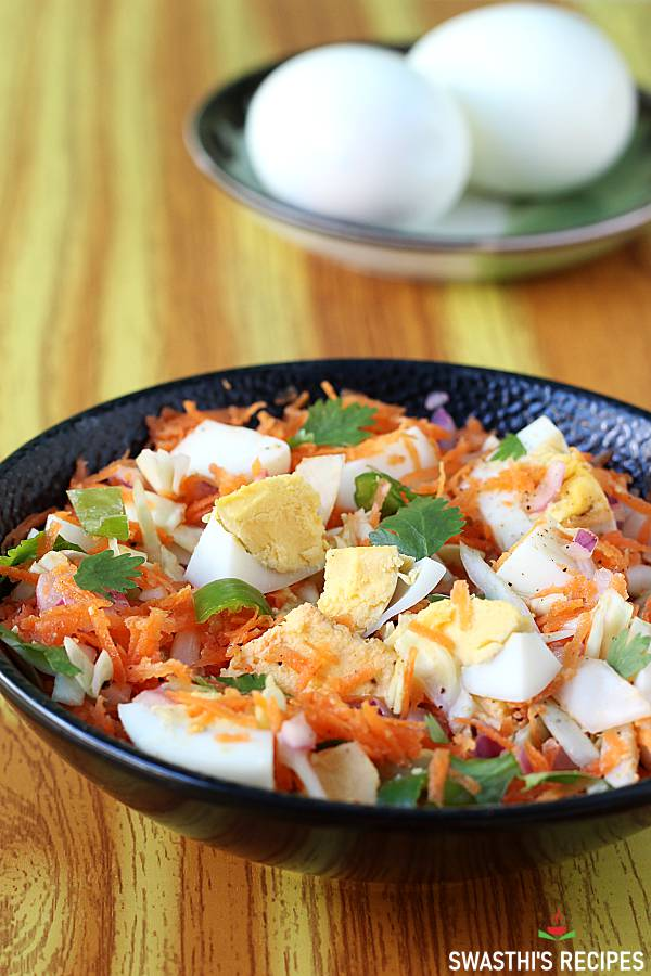veggie egg salad without mayonnaise in a bowl