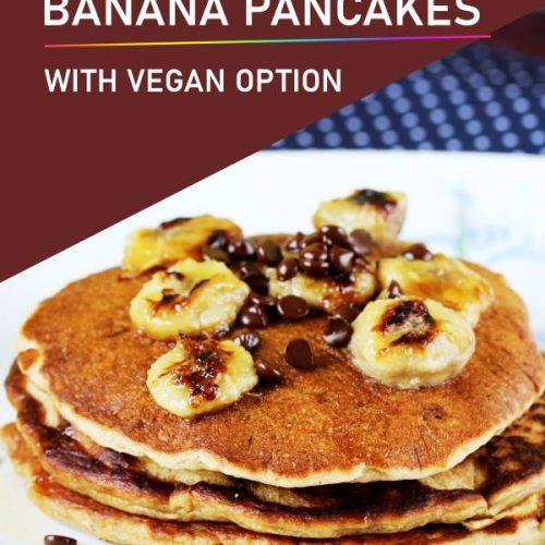 eggless banana pancakes
