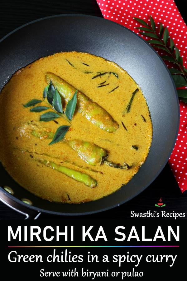 Mirchi ka salan for biryani
