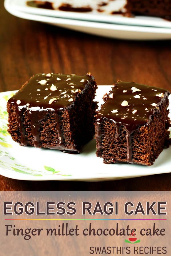 Ragi cake | Eggless ragi cake | Finger millet cake