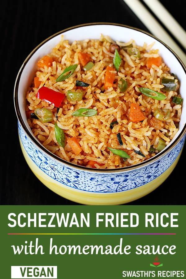 Schezwan fried rice recipe | How to make schezwan rice